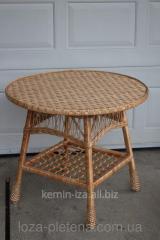 """Плетенные столы из лозы, стол """"Круглый"""""""