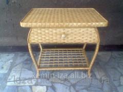 Столик для маникюра оригинальный из лозы, стол