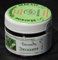 Soft grass soap of Beldi eucalyptus (Crimean