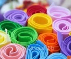 Foamiran for needlework sheet in rolls