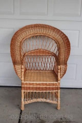 The chair developed from a natural rod, wattled