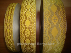 Lace the Greek metallized code 04592 width of 2,5