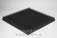 Acoustic foam rubber 120 of mm 1kh1m black