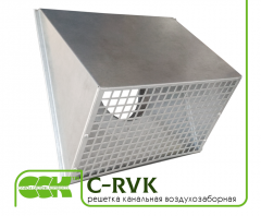C-RVK air intake grille for circular ventilation duct