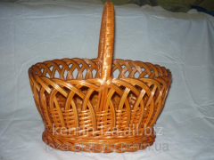 Basket from a rod, the Easter basket