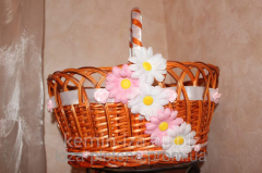 Baskets from the natural rod, decorative items the