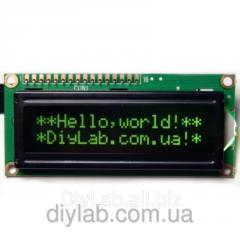 LCD 1602 HD44780 zelen_ symbol, chorny background
