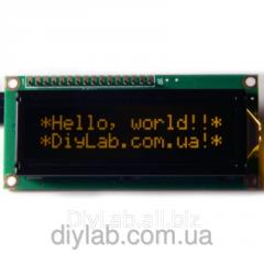 LCD 1602 HD44780 pomaranchev_ symbol, chorny