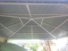 From threw metal fastenings of canopies, canopies