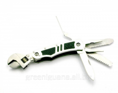 Knife - an adjustable spanner with a tool kit 5 in