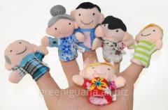 Finger-type Family puppet theater (6 toys)