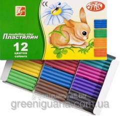Plasticine 12 of colors 162 gr. Pass the Beam