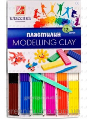 Plasticine 18 of colors 360 gr. Classic Luch