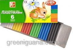 Plasticine 6 of colors 81 gr. Pass the Beam