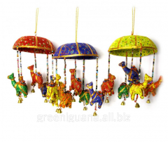 Suspension bracket with a hand bell Camels fabric
