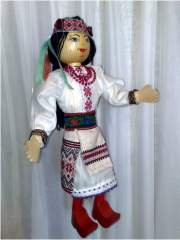 The doll puppet the Ukrainian the Doll puppet the