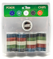 Poker counters in the blister (100 counters)