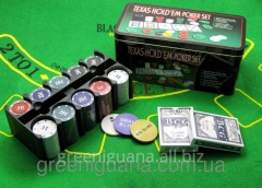 Poker set (2 packs, 200 counters)
