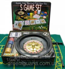 Poker set + a roulette (5 in 1)