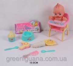 Baby doll with accessories in a package 10 of cm
