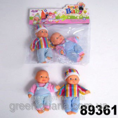 Baby doll with accessories in a package 13 of cm