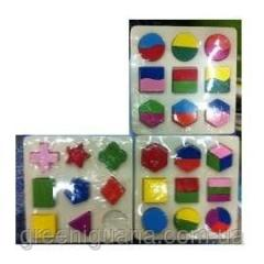3 look developing wooden puzzles, 15kh15sm