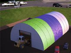 Hangar awning Arch, step of arches of 3 m, type A