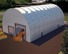 Hangar Arch with a wall, the EXPERT type