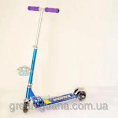 Scooter metal 3kolesn. PU shines, amort, 2 kg,