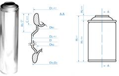 Cylinders. An aerosol can for chemical production.