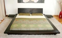 Кровать двуспальная деревянная Segun бук
