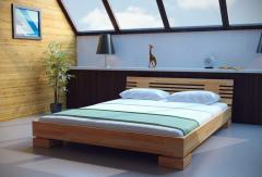 Кровать деревянная двуспальная Wind бук