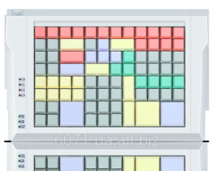 LPOS-II-96 keyboard of gray color