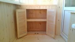 Wooden furniture fronts, louvered doors for