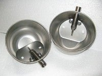 Autodrinking bowl of cup type from stainless steel