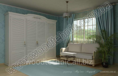 Wooden louvered doors for wardrobes , Germany,