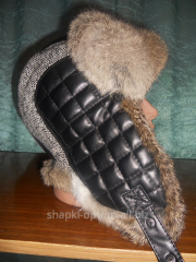 Cap eurocap with ear-flaps, man's of fur of