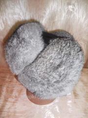Cap eurocap with ear-flaps, man's, fur
