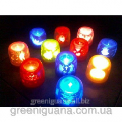 Touch electronic candle with flickering