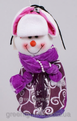 Bag for candies with the Snowman soft toy, 20 cm