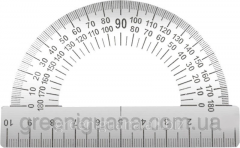 Protractor of metal 180 degrees