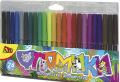 Felt-tip pens 24 colors of Flomiki 916-24
