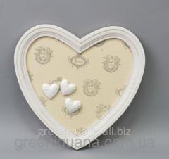 Фоторамка - декор Сердце прованс 28х27 см (FF0081)