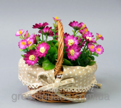 Цветы в корзинке 15х14 см (SU1801)