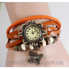 Hours a bracelet with a butterfly (color red)