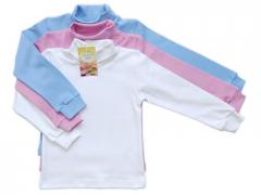 Jumper (interlok), colors; pink, blue, 98-134