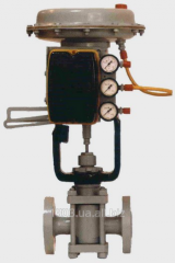 Pneumatic one-saddle PN 16 POU-11 actuation