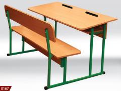 Парта-лавочка, школьный стол, школьная парта,