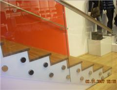 Ограждения из стекла для лестниц, атриумов
