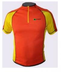 Sport wear, Sportswear with corporate symbolics in